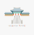 bulguksa temple is one most famous buddhist vector image vector image