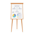 business report board presentation isolated design vector image