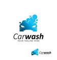 car wash logo design template vector image