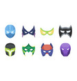 carnival mask icons in set collection for design vector image