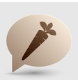 Carrot sign Brown gradient icon on vector image vector image