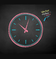 chalk drawn clock vector image