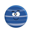 cute cartoon neptune planet vector image vector image