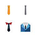 flat icon clothing set of clothing tailoring vector image vector image