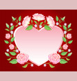 floral frame colorful and beautiful rose flowers a vector image vector image