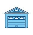 garage door house vector image vector image