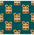 Gift gingerbread seamless pattern vector image vector image