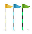 golf flags realistic flags of the golf vector image