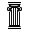 greek pillar icon simple style vector image vector image