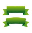 green ribbon set vector image vector image