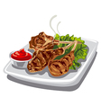 grilled lamb chops vector image vector image