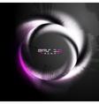 Grunge violet logo vector image vector image