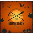 Halloween Monster Party Card or a Label vector image vector image
