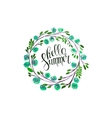hello summer lettering in vector image vector image