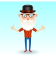 Hipster grandpa vector image