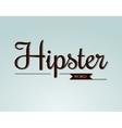 Hipster world typography vector image