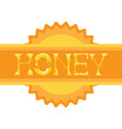 honey shining logo isolated creative lettering on vector image