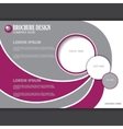 horizontal presentation of business poster vector image vector image