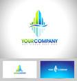 House Logo Leaf vector image vector image