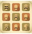 Icons set of hipster mustaches and glasses vector image vector image