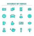 Internet of things and smart home blue fill icons vector image vector image