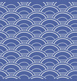 japanese chinese asian blue wave seamless pattern vector image vector image