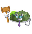 judge green rock moss isolated on cartoon vector image vector image