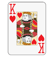 Jumbo index king of hearts vector image vector image