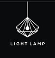 lamp idea logo background vector image vector image