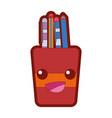 line color happy tools cup kawaii cartoon vector image