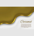 liquid caramel background vector image vector image
