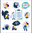 mental treatment mind problems and health care vector image