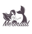 mermaid swimming marine company siren isolated vector image