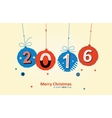 Merry Christmas Card Happy New Eyar vector image vector image