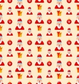 merry christmas seamless pattern with santa vector image vector image