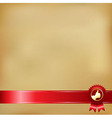 Old Paper And Gold Award Ribbons vector image