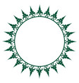 oriental style circle frame with simple decoration vector image vector image