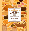 pastry food and desserts bread bakery shop vector image vector image