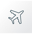 plane icon line symbol premium quality isolated vector image