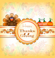 postcard for thanksgiving in scrapbooking style vector image