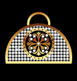 purse gold vector image vector image