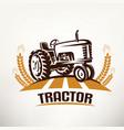 retro tractor symbol vector image vector image