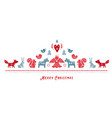 scandinavian style christmas banner background vector image vector image