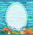 sea exotic background vector image