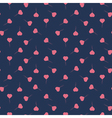 Seamless pattern with heart balloons vector image vector image