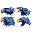 set eagle sports logo mascot design coll vector image