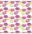set icons pop art style pattern vector image