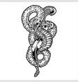 snake and knife logo design vector image