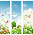 Summer day banners vector image vector image