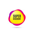 super discount symbol sale sign vector image vector image